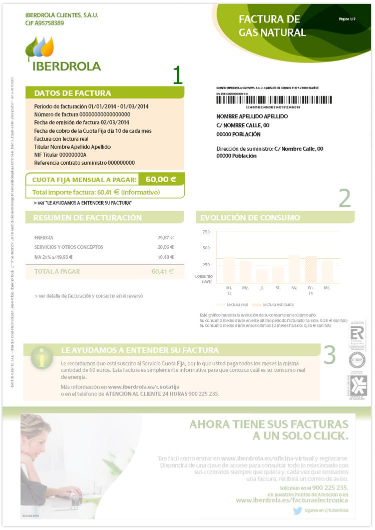 Datos de factura