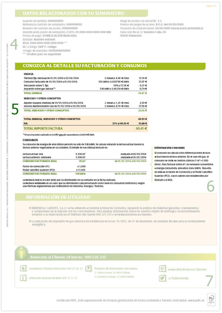 Detalle su facturación y consumos