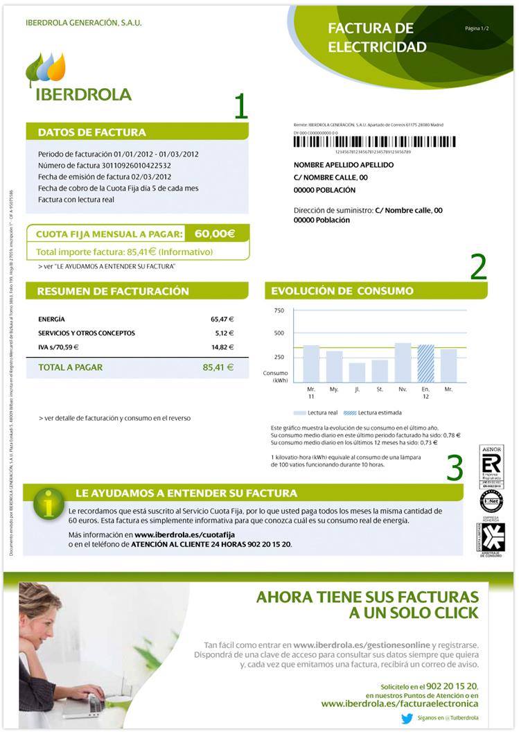 saca una foto a la factura elctrica de tu casa e identifica los aspectos ms importantes tarifa aplicada potencia contratada lectura del contador