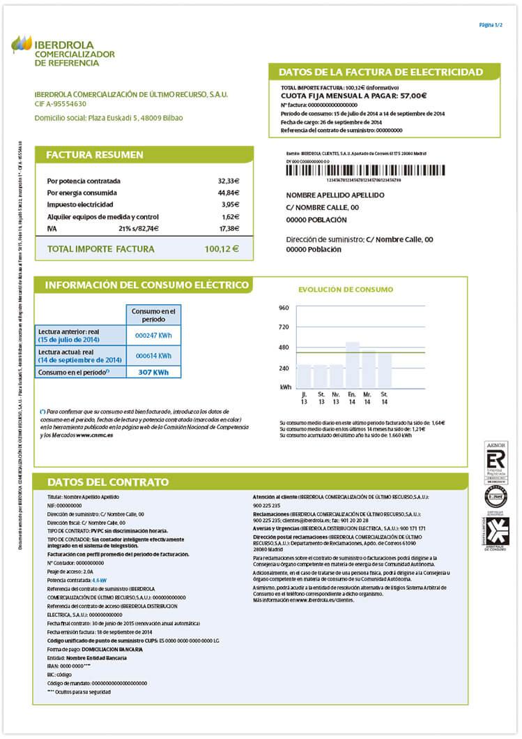 Informaci n sobre la factura de la luz comercializaci n for Como ahorrar en la factura del gas